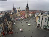 Halle an der Saale - Marktplatz open webcam