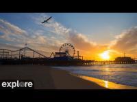 Los Angeles - Santa Monica Beach open webcam
